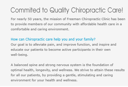 Commited to quality chiropractic care in Salem Oregon.